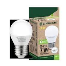 Лампа 7W Е27 4100К куля   ENERLIGHT світлодіодна