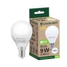 Лампа 9W Е14 4100К свічка  ENERLIGHT світлодіодна