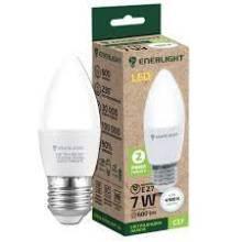 Лампа 7W Е27 4100К свічка   ENERLIGHT світлодіодна