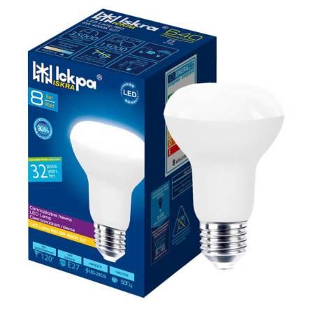 Лампа 8W Е27 R-63 4000К  Іскра світлод.