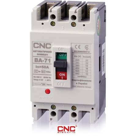 Автоматичний вимикач ВА 72 100А 3 полюси 380В CNC
