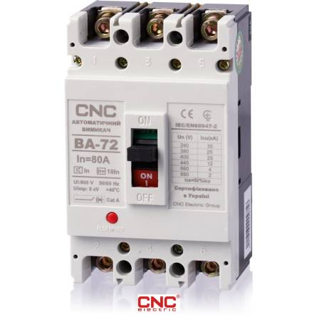 Автоматичний вимикач ВА 72 63А 3 полюси 380В CNC