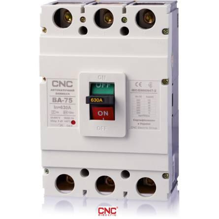 Автоматичний вимикач ВА 75 630А 3 полюси 380В CNC