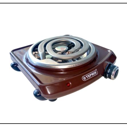 Електроплита 1-камфорна ЕПТ 1 1,0кВт(Ш) коричнева Термія