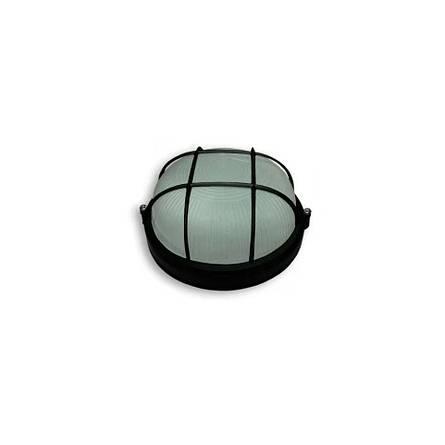 Світильник НББ-3 64-60 круглий чорний з решіткою (GERA313)