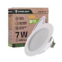 Світильник LED 7Вт 4000 круг вбудований 85мм MERIDIAN ENERLIGHT