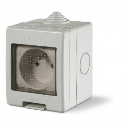 Розетка з заземленням IP55 (136.5122-S) SCAME