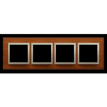 Рамка 4-а MR4/18 горіхова