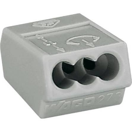 Клемник 273-503 для розподільних коробок на 3 провідника перетином 1,5-4,0 мм2 з пастою