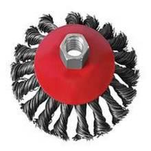 Щітка конусна плетений дріт 125мм М14 Бригадир22-032